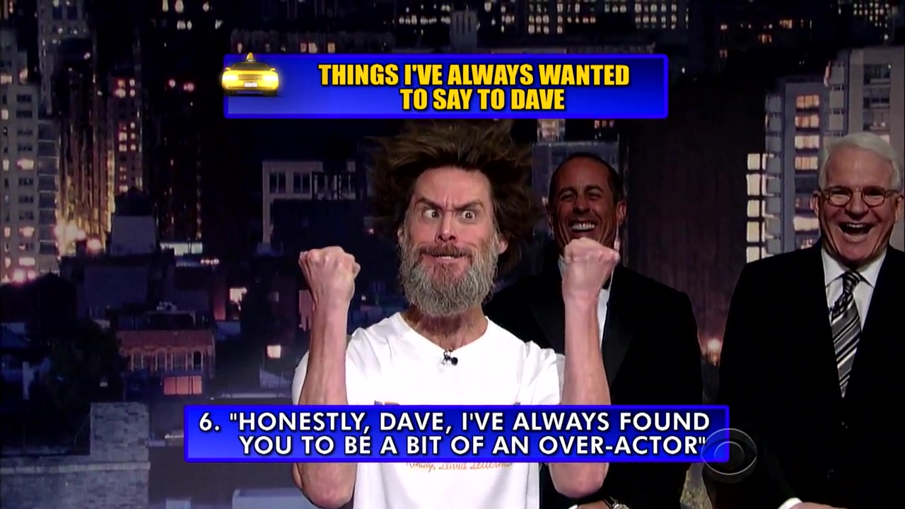 Jim Carrey on David Letterman